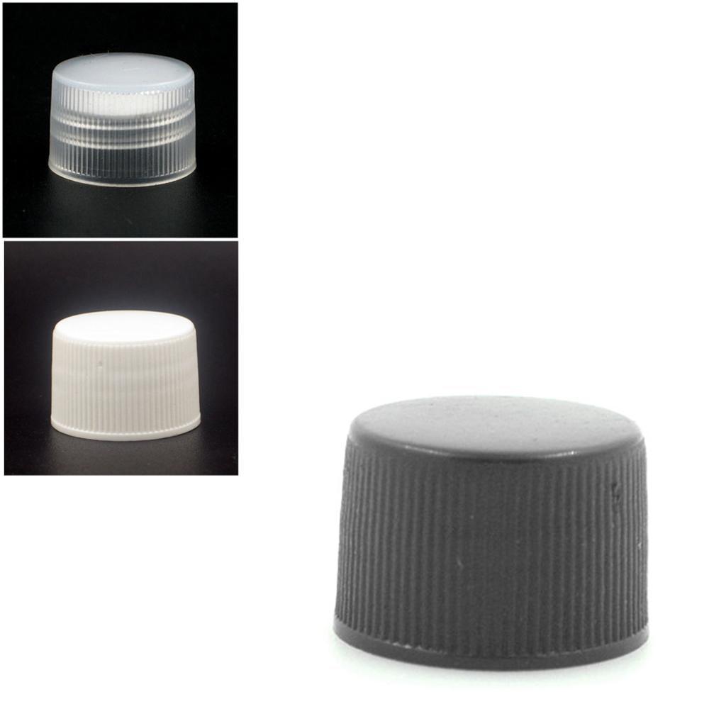 20-410 Black/white Plastic Ribbed Non Dispensing Cap With PE Foam Liner 10pc