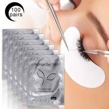 50/100 pares de Cílios Para Extensões Da Pestana Almofadas Descartáveis Dicas de Patch Sob Chicote Fiapos Almofadas Olho Livre Sticker Wraps maquiagem