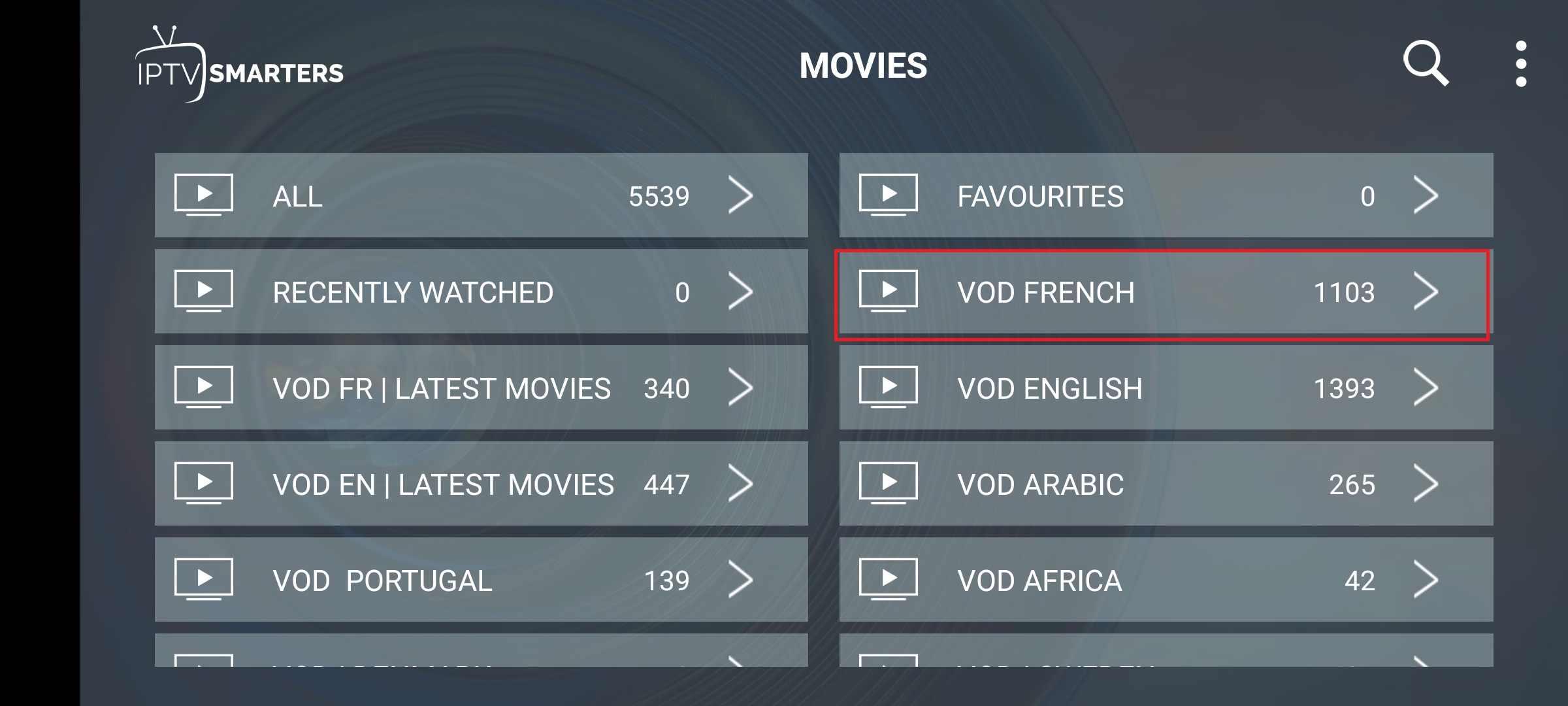 IPTV francés 500 + canales locales y 2000 + VODs Francia árabe Alemania IPTV suscripción deportes adultos para M3U Android Box Smart TV