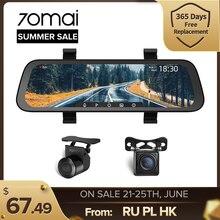 70mai – caméra de tableau de bord avec rétroviseur Dvr, 9.35 pouces, HD 1080P, double objectif, nouvel arrivage