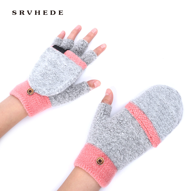 Winter Lady Gloves 2019 New Multifunctional Warm Gloves Women's Sturdy Ladies Soft Mittens Mittens Knitted Gloves Warm Hands