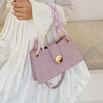 Thick Chain Small PU Leather Armpit Bag For Women 2020 Summer Crossbody Bags Female Shoulder Handbags Female Cross Body Bag