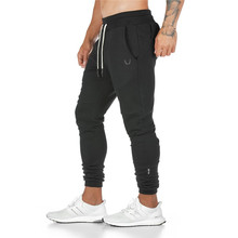 2020 Men Jogger Solid Pants Gym Multi Functional Zipper Pocket Fitness Bodybuilding Pants Runners Sweatpants Trousers Hombre(China)