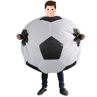 Inflatable Football Costumes for Adult Soccer Mascot Party Halloween Fancy Dress Carnival Purim Foot Ball Cosplay Suits K1285 F