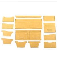 DIY leather craft universal short wallet template purse stencil pattern