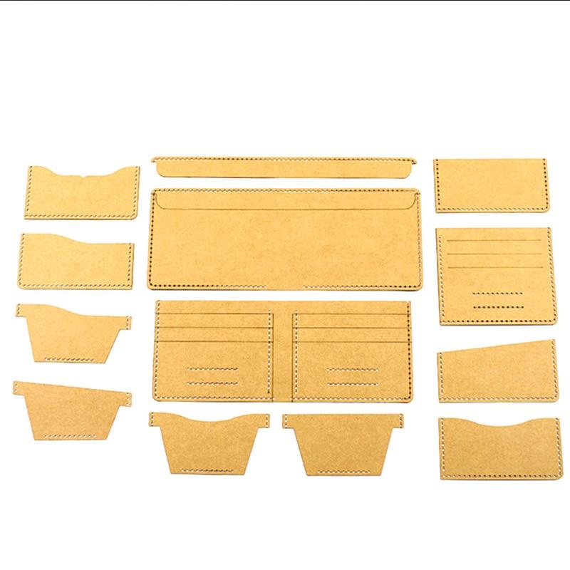DIY leder handwerk universal kurze brieftasche vorlage geldbörse schablone muster