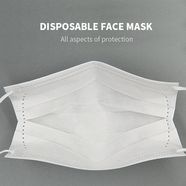 50PCS Mouth Mask Men Women Cotton Anti Dust Mask Mouth Mask Windproof Mouth-muffle Bacteria Proof Flu Face Masks In Stock 1