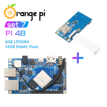 Orange Pi 4B+PCIE Expansion Board,4GB DDR4+16GB EMMC RK3399 NPU SPR2801S Mini Tablet