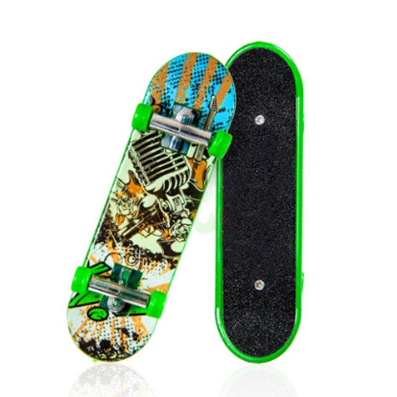 1PC Random Color Creative Mini Finger Skateboard Fingerboard Alloy Stents Scrub Finger Scooter Skate Boarding Kids Toys CX993389