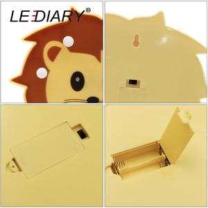 Image 4 - LEDIARY 3D צבעוני בעלי החיים LED לילה אורות חמוד פנדה האריה דביבון צורת המיטה שולחן מנורת לילדים צעצוע לילדים יום מתנה