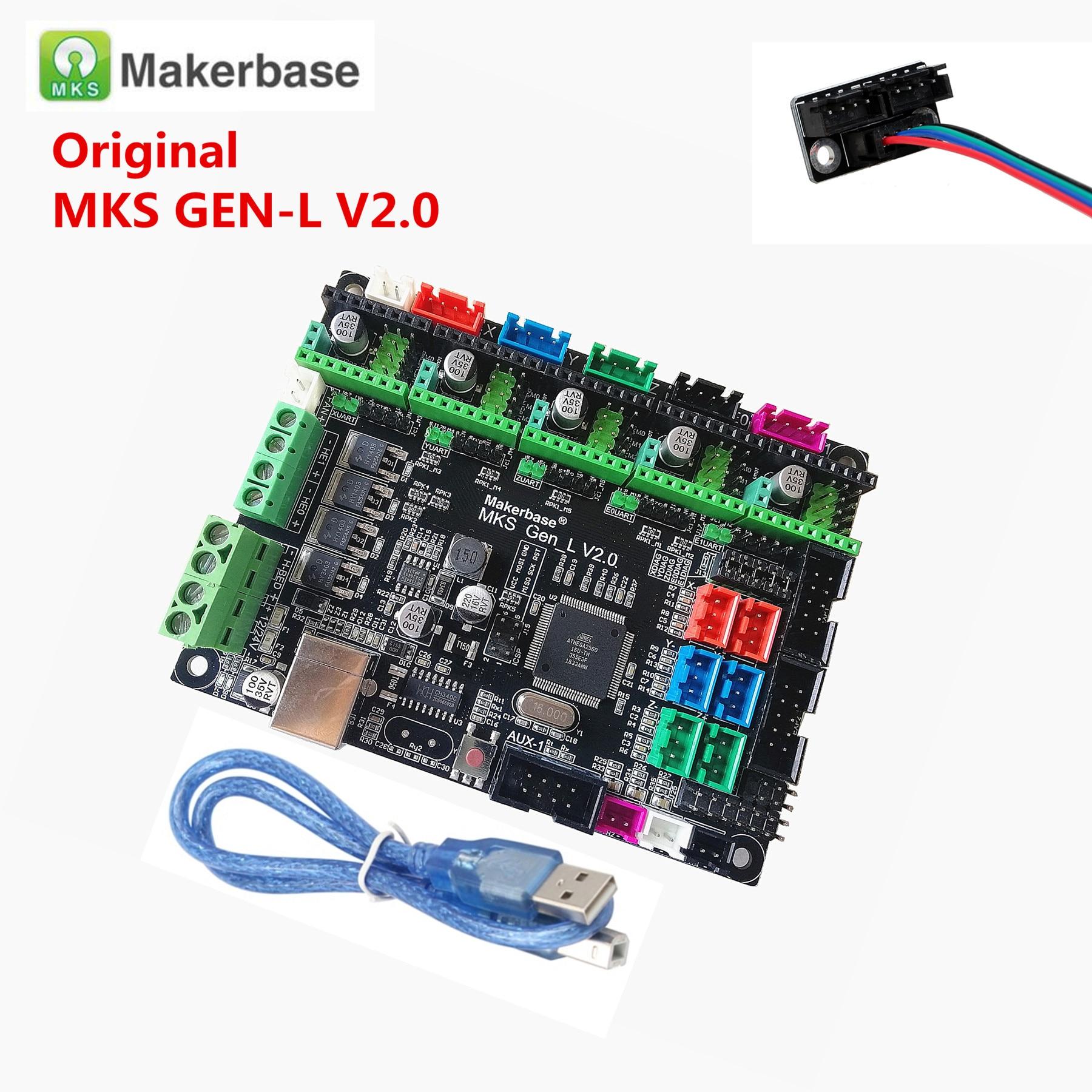 Makerbase MKS GEN L V2.0 3D Printer Card Control Mainboard Support A4988 DRV8825 Tmc2100 Tmc2208 Tmc2209 Tb6600 Dual Extruder