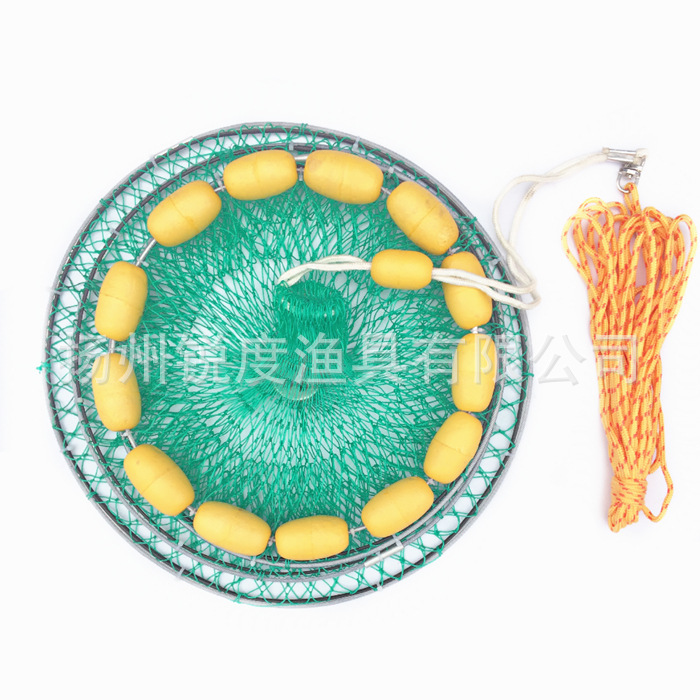 Acuity Fishing Gear Float Ball Fish Basket Fishnet With Steel Wire Ring Fish Basket Fishing Supplies Accessories