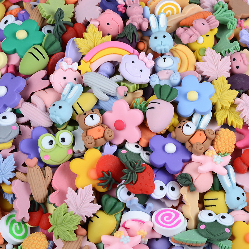 Hair-Accessories Diy-Crafts-Supplies Patch-Arts-Material Flat-Back-Resin Fruit/animal