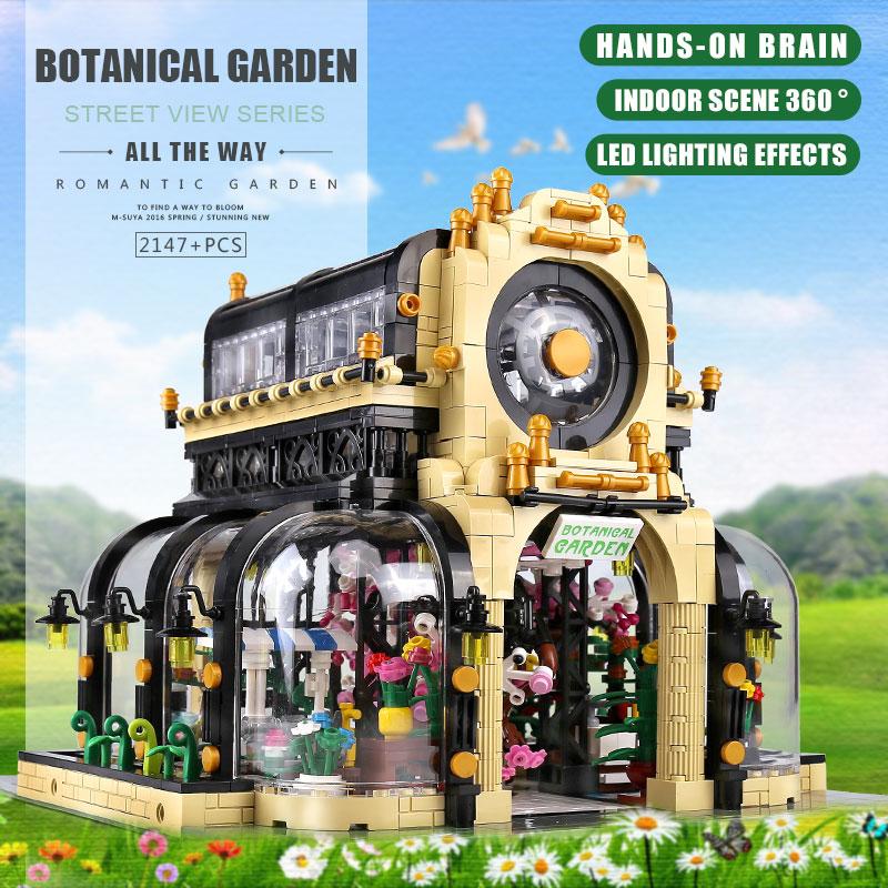 MOULD KING 16019 The MOC-26998 Botanical Garden With Led Lights Set