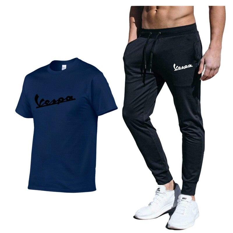 Vespa conjunto de roupas esportivas para corrida,