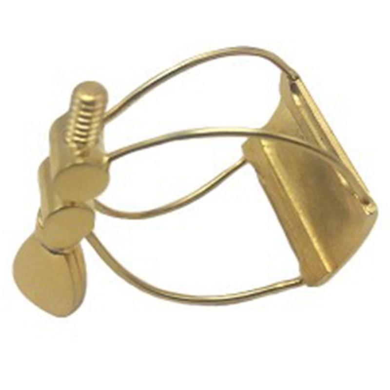 Gold-Plated Metal Ligature Sax Ligature Clip For Saxophone