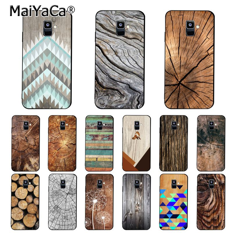 MaiYaCa <font><b>wood</b></font> textures Fox Dandelion Mandala Phone <font><b>Case</b></font> For <font><b>Samsung</b></font> <font><b>Galaxy</b></font> A7 A8 A6 Plus A9 2018 A50 A70 A20 A30 <font><b>A40</b></font> image