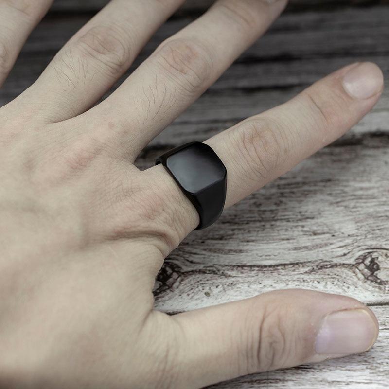 2020 модное черное квадратное кольцо в простом стиле, классическое обручальное кольцо, ювелирные изделия 3
