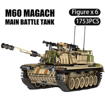 Military Tank Army Armored Vehicle City Building Blocks Compatible Technic War Educational Bricks Boys Toys For Child
