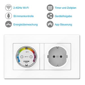 Image 3 - Wifi inteligentne gniazdo zasilania ue elektryczne gniazdka ścienne 10A czas głos bezprzewodowy pilot przez Tuya Smartlife Alexa Google Home