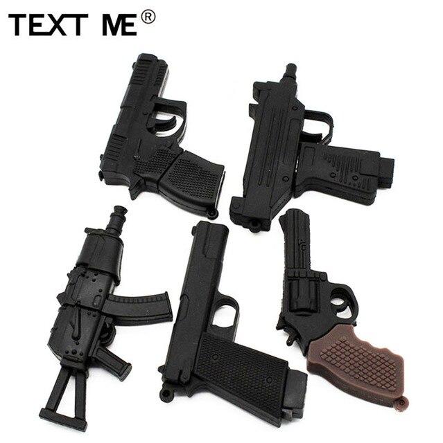 نص لي الكرتون 100% باسيتي الحقيقي 5 نموذج بندقية محرك فلاش usb usb 2.0 4 جيجابايت 8 جيجابايت 16 جيجابايت 32 جيجابايت بندريف 64 جيجابايت usb2.0