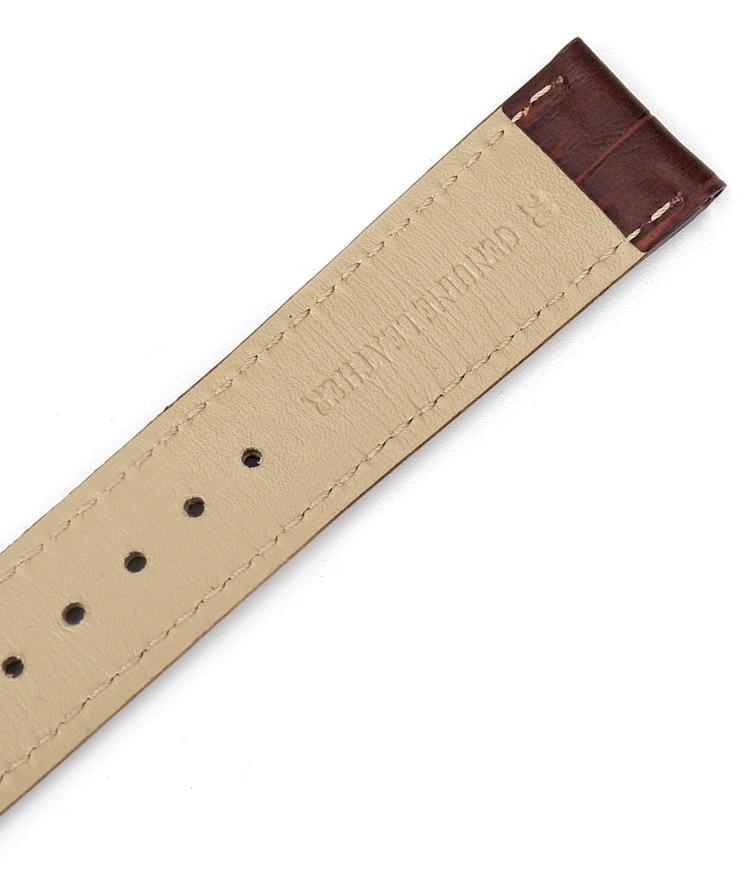 de couro genuíno pulseira de relógio 18mm