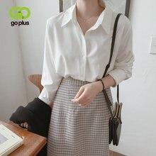Рубашка goplus винтажные топы блузка в Корейском стиле женские
