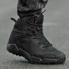цена Waterproof Training Shoes Men Women Army Fan Outdoor Hiking Sports Shoes Climbing Shoe Non-slip Breathable Desert Tactical Boots онлайн в 2017 году