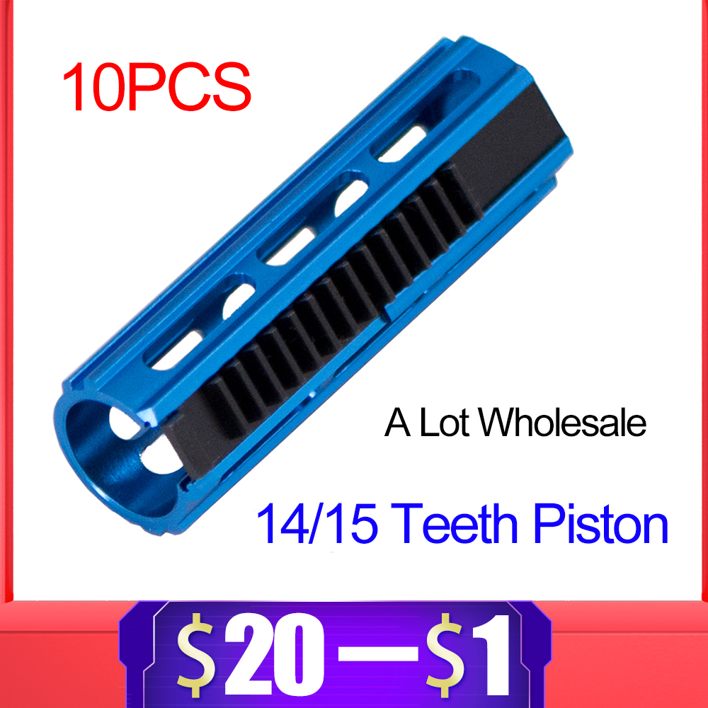 Hard Aluminum Alloy Full Steel Gear 14/15 Teeth Piston Tooth For Airsoft AEG Gel Blaster Gearbox Ver 2/3 Paintball Accessories