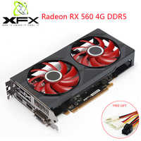 XFX Radeon RX 560 4GB DDR5 Gaming PC Video Cards GPU 128 Bit RX 560D Desktop Graphics Cards Computer Gamer Used AMD RX560 Card