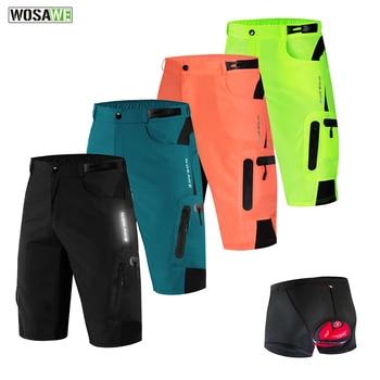 WOSAWE Men Cycling Shorts Breathable MTB Loose Short Mountain Bike Downhill Running Bicycle Motorcycle