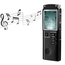Mp3 плеер t60 профессиональный цифровой диктофон со встроенным