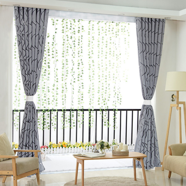 Luxury fashion style semi-blackout curtains Home curtains window living room living room curtain panel jacquard fabrics door CD 4
