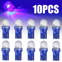 цена на Car Interior Lights 10pcs 168 194 1 Smd Blue Led Auto Wedge Light Side Dashboard Number Plate Lamp Dome Bulb Super Bright