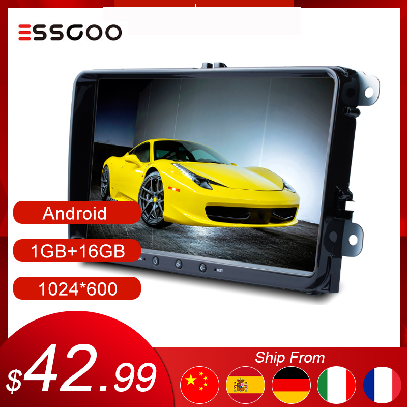 Essgoo Android 9'' 1+16GB for Volkswagen/VW Universal Car Multimedia Player GPS Navigation 2 Din Autoradio 2din Stereo Car Radio image