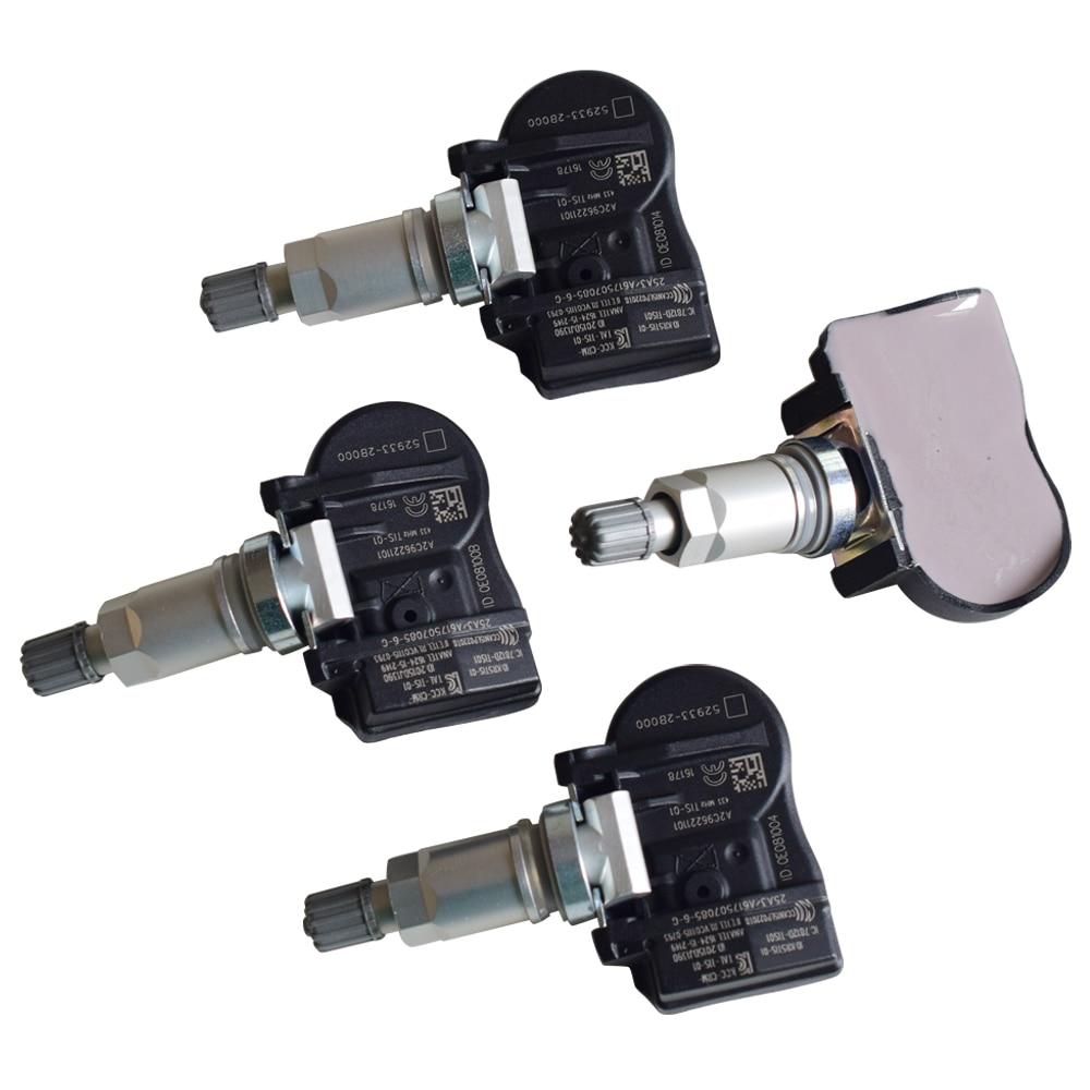 4Pcs Für Kia Hyundai 52933-2B000 529332B00 0 52933 2B000 Auto Tire Pressure Monitoring System Sensor 433Mhz TPMS Sensor