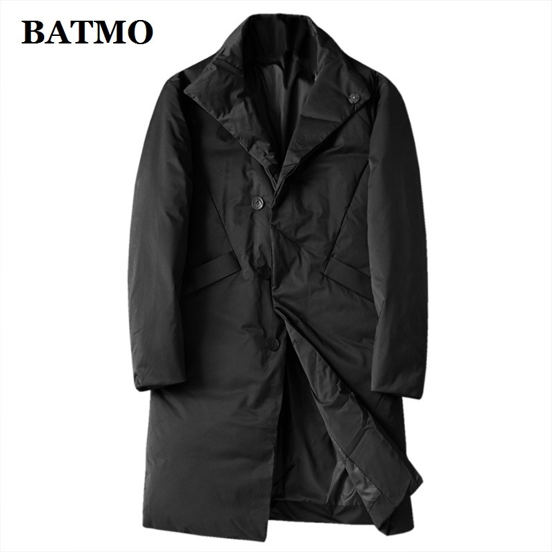 BATMO 2019 New Arrival Winter 80% White Duck Down Jackets Men,men's Winter Trench Coat Men, 1001