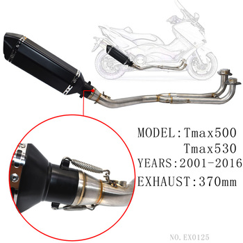 For tmax500 Exhaust Full system with exhaust db killer FOR Yamaha T-max Tmax 500 530 2001-2016 tmax530