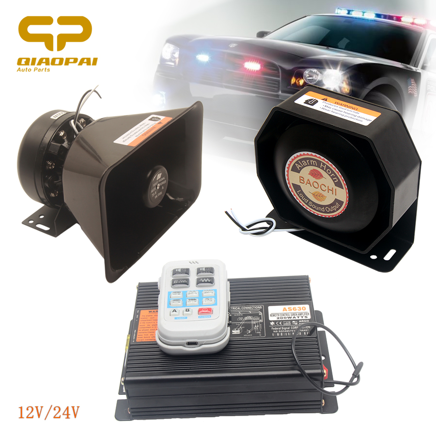 200W Alarm Car Horn Sound Multi Tone 12V 24V Wireless Police Siren Vehicle Special Voice PA
