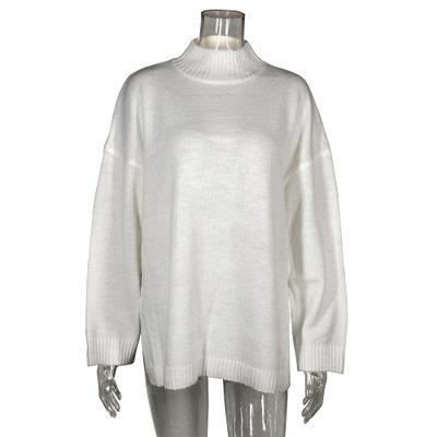 Autumn Winter 2019 Knitwear Pullover Sweater Women White Oversized Jumper Fashion Casual Turtleneck Basic Sweaters 15