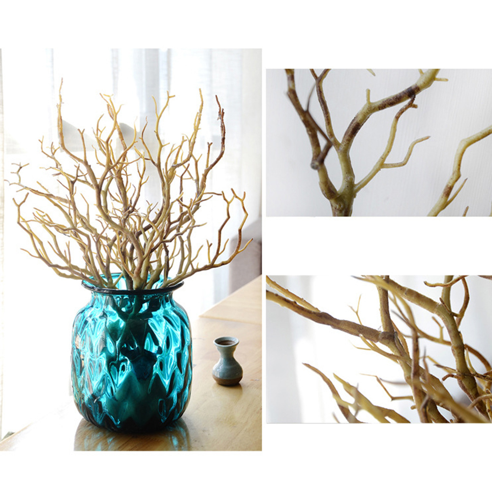 2PCS Beautiful Artificial Flowers Branches Plastic Dried Branch Plant Home Wedding Decoration Peacock Coral Branches Gift thumbnail
