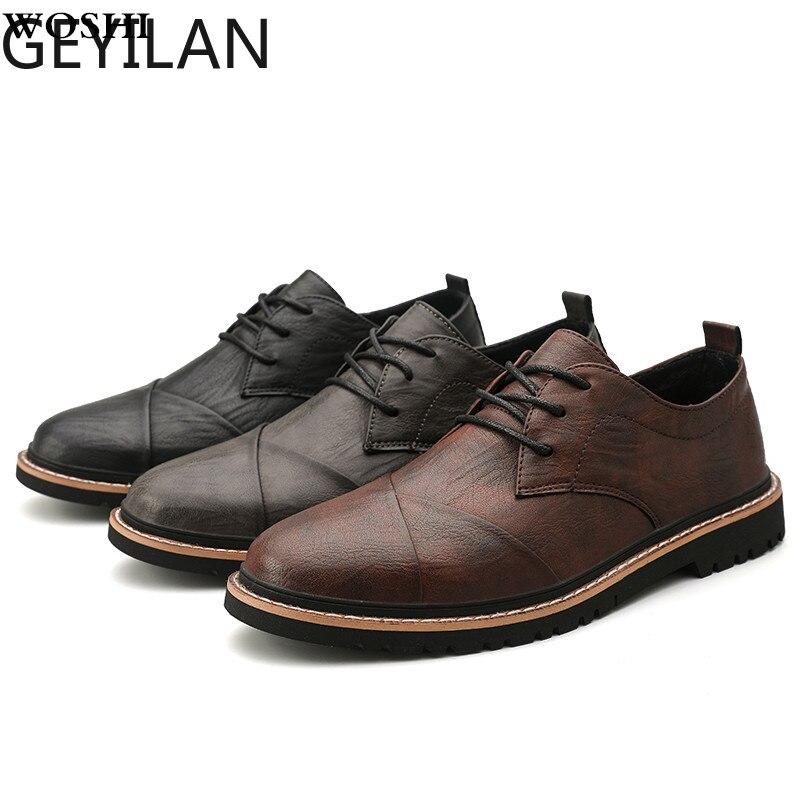 Men Oxford Dress Shoes Work Safety