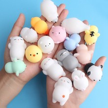Squishy Soft Cute Cat Antistress Ball Decompression Mochi Anti Stress Squishies Squeeze Rising Abreact Relief Funny Gift Toy(China)