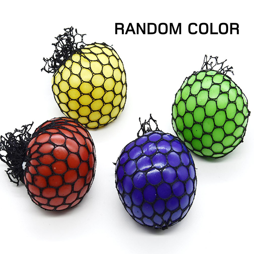 Novetly Funny Squeeze Ball Cute Stress Relief Ball Hand Wrist Exercise Anti-stress Slime Grape Ball Toy Funny Gadgets Toys Gift