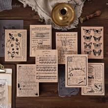 Vintage carta planta póster mariposa decoración sello madera goma sellos para álbum de recortes papelería DIY artesanía sello estándar