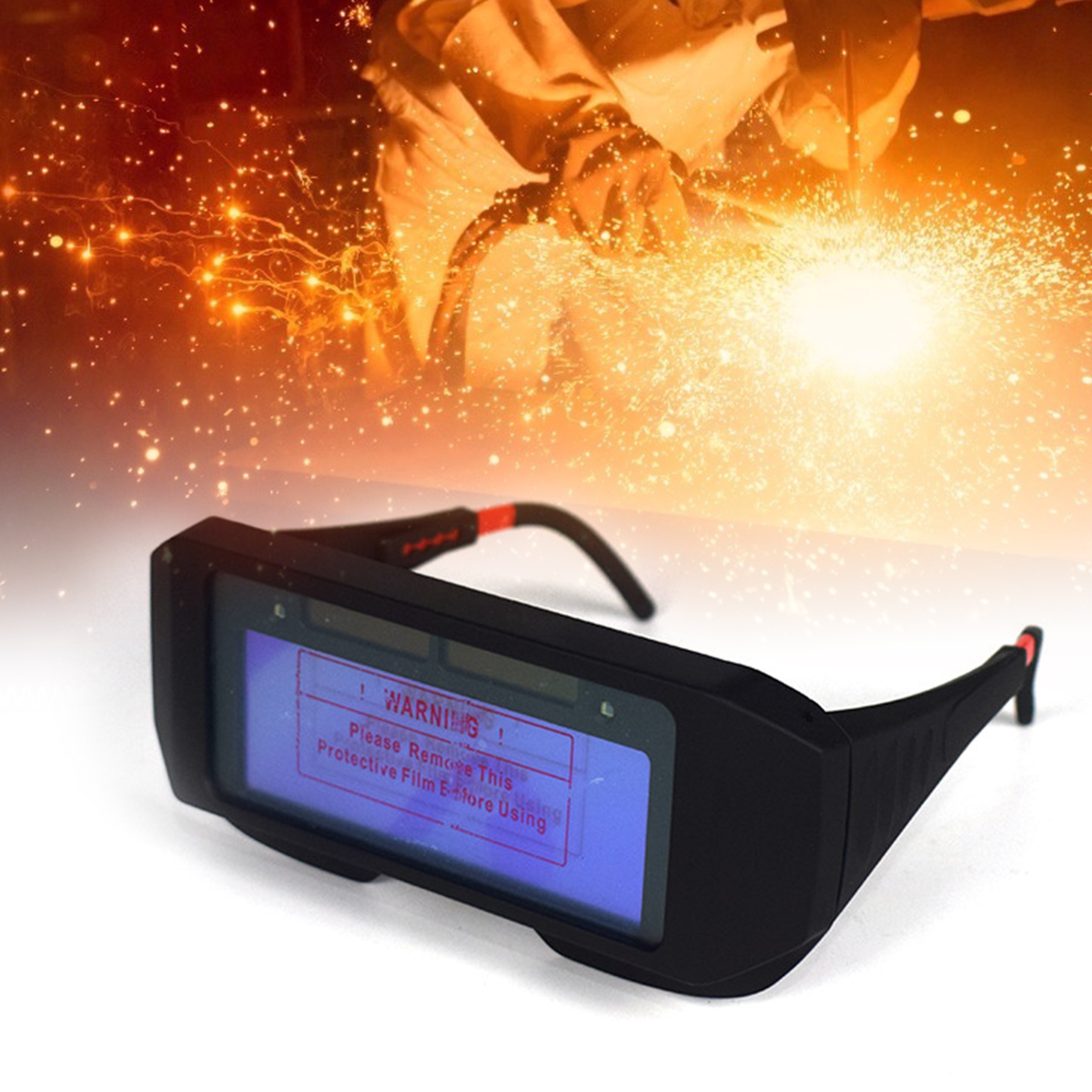 Welding Eyes Goggle Anti-Ultraviolet Solar Powered Auto Darkening Welding Mask Helmet Eyes Goggle Welder Glasses Anti-Glare