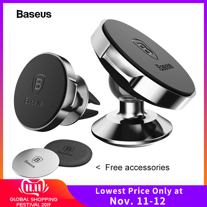 Baseus Magnetic Car Phone Holder For IPhone Xs X Samsung S10 Holder For Phone In Car Magnet Mount Cell Mobile Phone Holder Stand