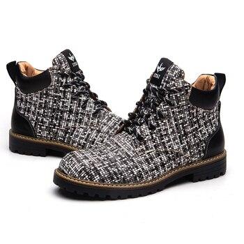 Wear snow  boots Fashion casual men's non-slip Men's work  Boots Men's shoes 2019 Spring and autumn MeiJiaNa Men's martin shoes