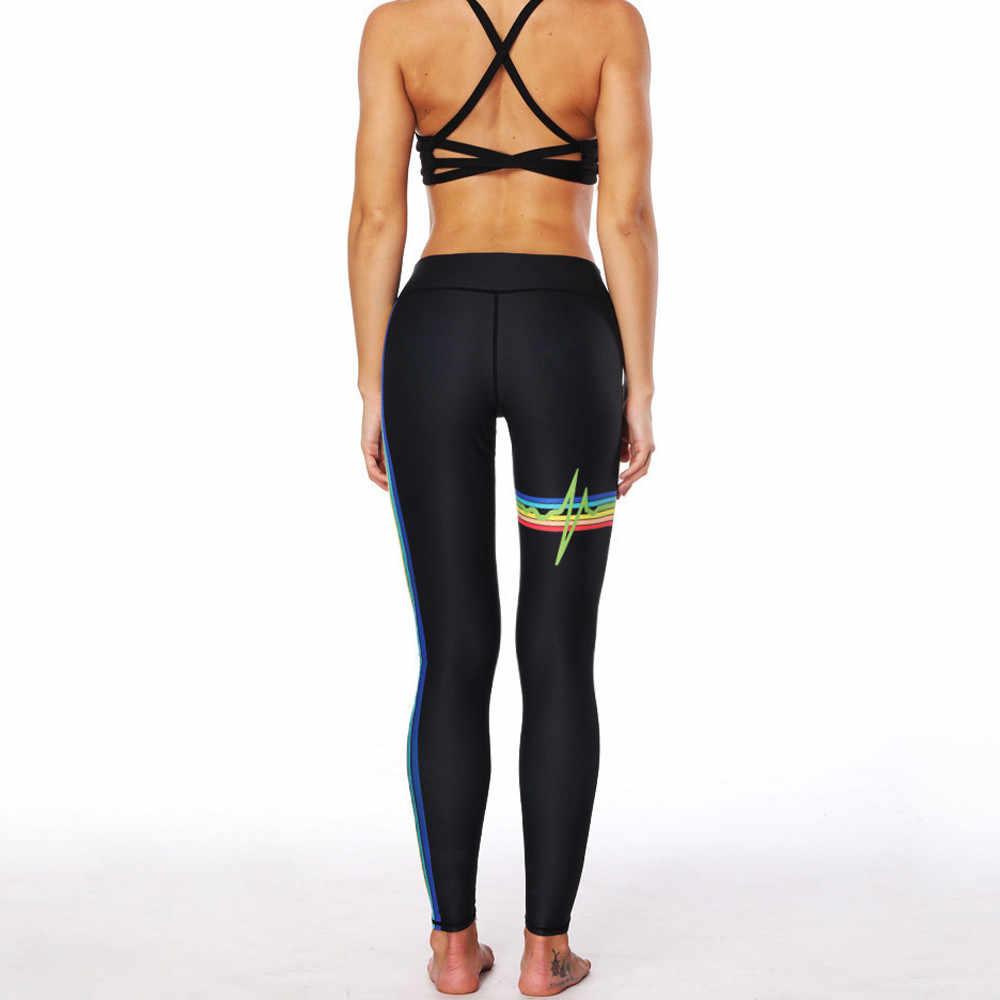 Phụ nữ Thời Trang Gợi Cảm Bút Chì Co Giãn Tập Luyện Độ Đàn Hồi Cao In Hình Cầu Vồng Quần Legging Tập Gym Hoạt Động Quần Skinny Dạo Phố