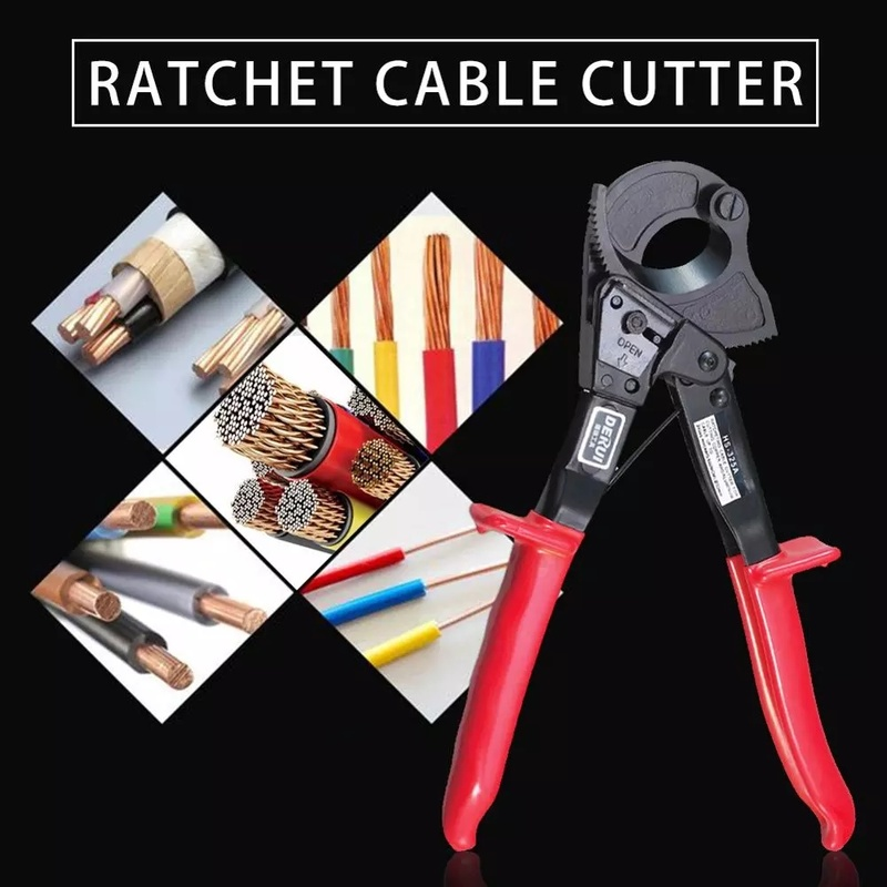 Tools : 240mm Manual Pliers Ratchet Cable Pliers Wire Cutters Cable Cutters Copper and Aluminum Wire Pliers Hand Tools